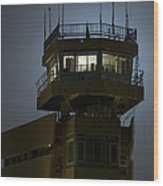 Cob Speicher Control Tower Wood Print by Terry Moore