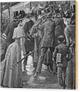 Commuter Rush Hour, 1890 Wood Print by Granger