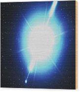 Computer Artwork Of A Gamma Ray Burst Wood Print by Greg Baconnasa