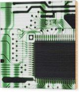 Computer Circuit Board Wood Print by Tim Vernonlth Nhs Trust