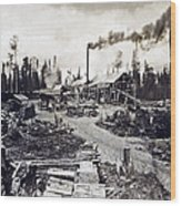 Concord New Hampshire - Logging Camp - C 1925 Wood Print by International  Images