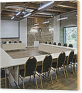 Conference Room Wood Print by Jaak Nilson