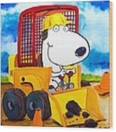 Construction Dogs Wood Print by Scott Nelson