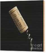 Cork Of Bottle Of Saint-emilion Wood Print by Bernard Jaubert