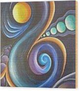 Cosmic  Wood Print by Reina Cottier