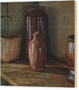 Country Cupboard Wood Print by Robin-lee Vieira