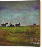 Country Wagon 2 Wood Print by Perry Webster