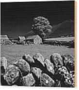 Countryside Beneath Slieve Binnian In The Mourne Mountains Northern Ireland Wood Print by Joe Fox