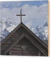 Cross Bird Wood Print by Charles Warren