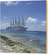 Cruise Ship Wood Print by Alexis Rosenfeld