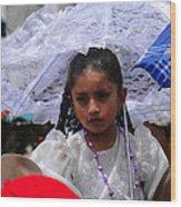 Cuenca Kids 51 Wood Print by Al Bourassa