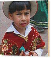 Cuenca Kids 54 Wood Print by Al Bourassa