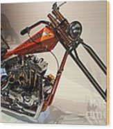 Custom Motorcycle Chopper . 7d13319 Wood Print by Wingsdomain Art and Photography