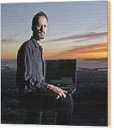 David P. Anderson, Us Computer Scientist Wood Print by Volker Steger