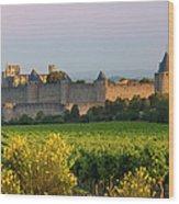 Dawn In Carcassonne Wood Print by Brian Jannsen
