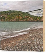 Deception Pass Washington Wood Print by Artist and Photographer Laura Wrede