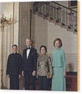 Deng Xiaoping Jimmy Carter Madame Zhuo Wood Print by Everett