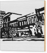 Dickson Street In Fayetteville Ar Wood Print by Amanda  Sanford