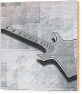 Digital-art E-guitar IIi Wood Print by Melanie Viola