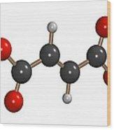 Dimethyl Fumarate Allergen Molecule Wood Print by Dr Mark J. Winter