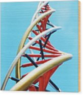 Dna Sculpture Wood Print by Victor Habbick Visions
