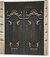 Doors Wood Print by Elena Elisseeva