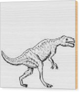 Dorkosaurus - Dinosaur Wood Print by Karl Addison