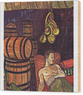 Drunken Arousal Wood Print by Melinda English