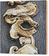 Dry Porcini Mushrooms Wood Print by Elena Elisseeva