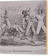 Effects Of The Fugitive-slave-law Wood Print by Everett