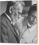 Ehrlich And Hata, Discovered Syphilis Wood Print by Science Source