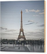 Eiffel Tower Paris Wood Print by Melanie Viola
