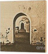 El Morro Fort Barracks Arched Doorways San Juan Puerto Rico Prints Rustic Wood Print by Shawn O'Brien