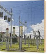 Electricity For A City Wood Print by Aleksandr Volkov