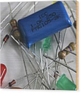 Electronic Components Wood Print by Photo Researchers, Inc.