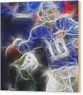 Eli Manning Ny Giants Wood Print by Paul Ward