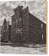 Elkhorn Ghost Town Public Halls 3 - Montana Wood Print by Daniel Hagerman