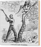 Emancipation Cartoon, 1862 Wood Print by Granger