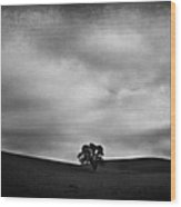 Emptiness Wood Print by Laurie Search
