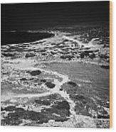 End Of The Main Road At White River Canyon Akamas Peninsula Republic Of Cyprus Europe Wood Print by Joe Fox