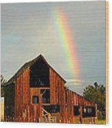 End Of The Rainbow Wood Print by Cindy Wright