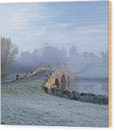 English Fog Wood Print by Zarija Pavikevik