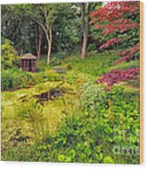 English Garden  Wood Print by Adrian Evans