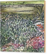 English Garden Wood Print by Mindy Newman
