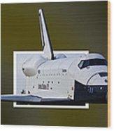 Enterprise Wood Print by Lawrence Ott