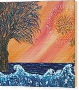 Europa Tsunami Wood Print by Pm Ernst
