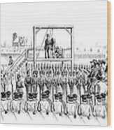 Execution Of John Brown, American Wood Print by Photo Researchers