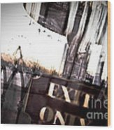 Exit Only Wood Print by Pixel Perfect by Michael Moore