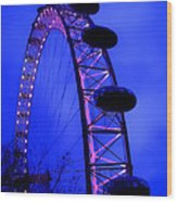Eye Of London Wood Print by Roberto Alamino