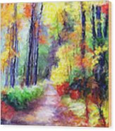 Fall Melody Wood Print by Marilyn Sholin